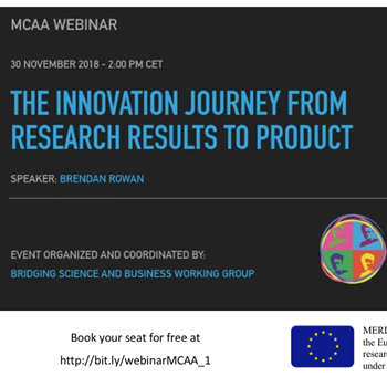The innovation journey from research results to product – webinar