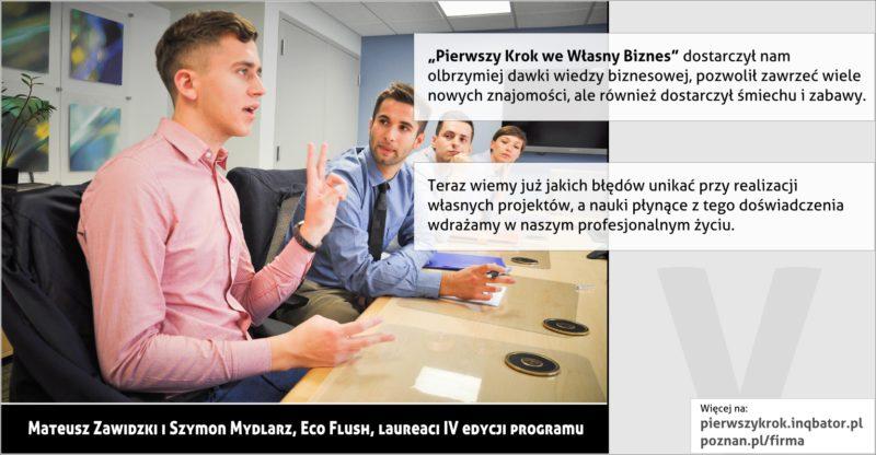 PPNT Poznan - Pierwszy krok we własny biznes - Eco flush